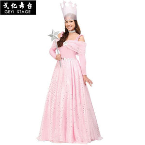 new The Wizard Of Oz Series Witch Costumes Princess Dress Adults Halloween Party Cosplay Costume for Woman Pink dress Sexy Witch
