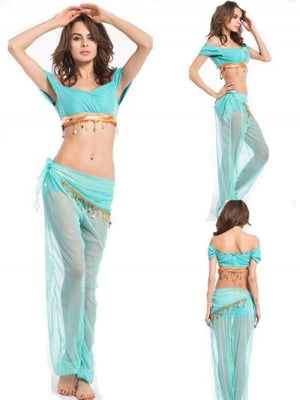 free shipping Women Sexy clothing 2014 Fashion New Genie Halloween Costume