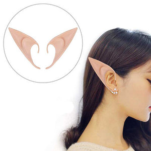 1 Pair Sexy Angel Latex Elf Ears Halloween Masquerade Party Mask supplies Costumes Festival Fairy Cosplay masque Accessories