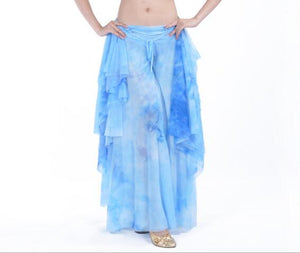 high quality Tops/Skirt/Tops+Skirt Gypsy Belly Dancing Practice Suits Sexy  tie-dyed design Oriental Dance Costumes 2 colors