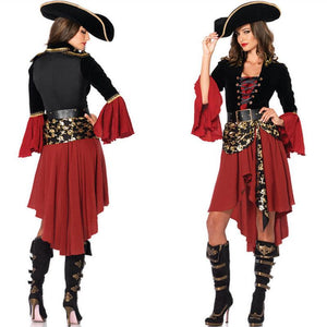 Adogirl New Sexy Women Pirate Costume Halloween Fancy Party Dress Carnival Performance Adult Pirate Cosplay Clothing