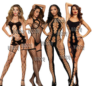 hot sexy underwear women erotic Bodystockings plus size lingerie Babydoll dress Underwear Translucent Chemises Bodysuits Garter