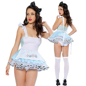 2016 Sexy Maid Costume Disfraces Adultos French Maid Mini Dress Servant Lingerie Cosplay Uniform Halloween Costume For Women