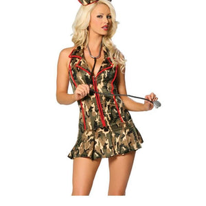 2017 New Sexy Camouflage Army Triage Nurse Dress Costume For Sexy Ladies Nurse Uniforms Female Halloween Costume A445152