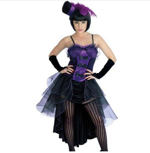 free shipping Flapper Dress Costume Sexy Burlesque Showgirl Fancy Dress Costume pink purple red 3XL Halloween Costume For WOMen