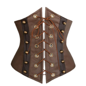 Faux Leather Gothic Steampunk Corsets Sexy Underbust Waist Cincher Overbust Corset And Bustiers Women Corpete