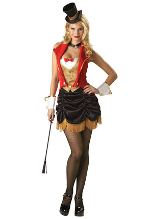 free shipping   party costume zy571 Sexy Ringmaster Lion Tamer New Fancy Dress Costume Ladies size s-2xl