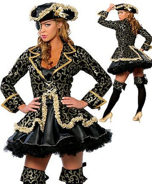FREE PP Sexy women cosplay Party costumes Deluxe Pirate Costume Adult cosplay halloween fantasias costumes