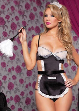 2018 Sweet Maid Princess Dress Adult Female Women Sexy Lingerie Sets Underwear Sleepwear Exotic Costume 0730