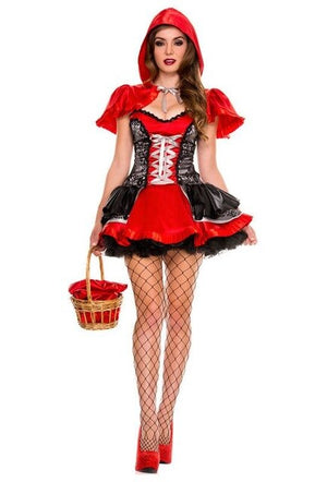 2018 New Fantasy Christmas Costumes Sexy Cardinal Little Red Riding Hood Costume Lingerie,Sale and Sexy Halloween Costumes