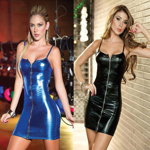Sexy Lingerie Party Dress Latex Stripper Pole Leather Fetish Dress Catsuit Adult Costumes Lingerie For Women Vinyl Dress