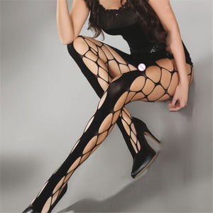 New Women's Long Sexy Fishnet Stockings For Women Fish Net Pantyhose Mesh Stockings Sexy Lingerie Thigh High Nylon Stockings