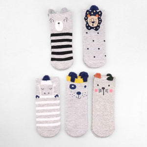 Cotton Women Socks Sweet Pug Dog Cat Fox Cute Lolita Socks Short Bamboo Kawaii Hipster Ladies Socks Female Animal Zoo Soks