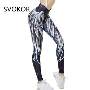 SVOKOR Harajuku 3D wing leggings for women 2018 push up sporting fitness legging athleisure bodybuilding sexy women's pants