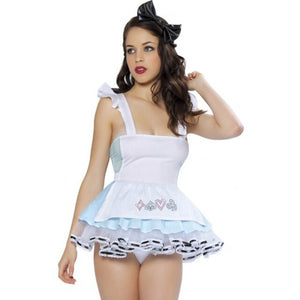 Blue Sexy Alice In Wonderland Costume Adult Party Fancy Woman Cosplay Lolita Maid Halloween Costumes For Women Dress Plus Size