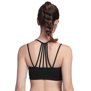 Sexy Yoga Top Women Yoga Shirt Running Sports Bra Yoga Gym Top Vest Shockproof High Support Workout Bra for Women Activewear