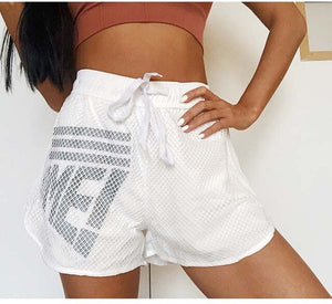 Women Sports shorts Quick dry fitness short Activewear Gym Double Layer  Workout Sporting Fitness Shorts  print yoga short