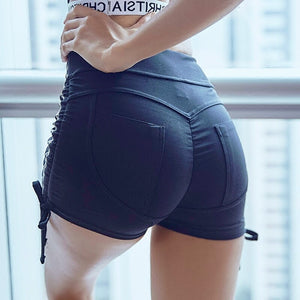 Hot sexy Black Running Shorts Women Gym Short Slim Sports Short Fitness Workout Yoga Shorts Activewear Bottom Gym Clothes