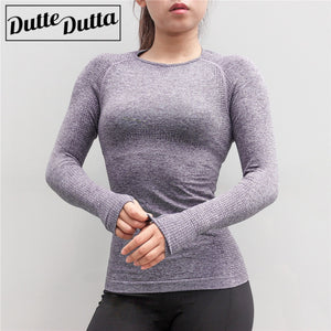 Seamless Long Sleeve Sport Shirt with Thumb Hole Women Sports Wear Gym Clothing Workout Tops Activewear Female Yoga Shirt