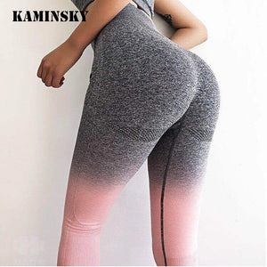 Kaminsky Women Seamless Leggings High Waist Workout Leggings Sporting Activewear Sweat Pants Jegging Ladies Fitness Leggings