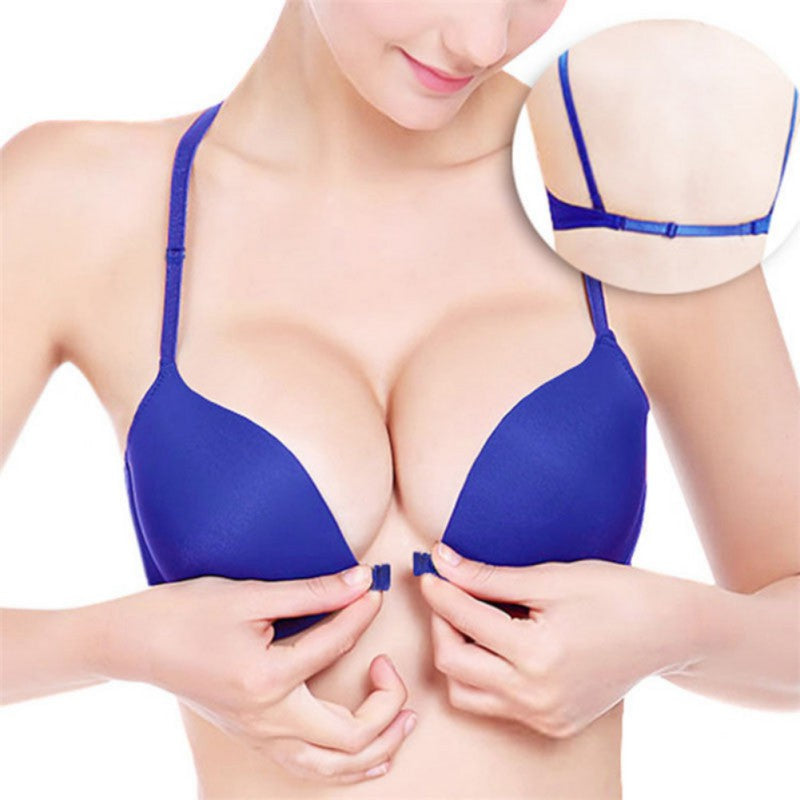 Front Closure Underwire Bra Push Up Women Plunge Bra Sexy 3/4 Cup Padded Bralette Women Plus Size Backless Bras for Ladies