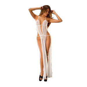 Bathrobe Black Hot New Women's Underwear Sexy Erotic Lingerie Lace Babydoll Dress Hot Sexy Nightgowns Long Night Dress Sleepwear