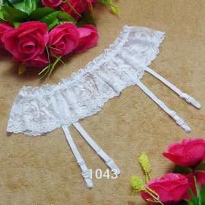 ZH 4 Colors Sexy Lingeries Underwear Socks Solid Women Tracksuit Thongs Lace Stocking Suspender Dual Layer Garter Belts Hot Sale