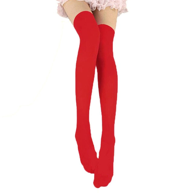 Women Sexy Warm Thigh High Stockings Over Knee Socks Velvet Calze Stretch Stocking Temptation Medias Overknee Long Socks