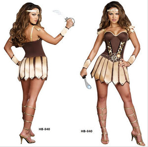 Free Shipping Ladies sexy Warrior Princess  Fancy Dress Costume
