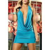 Women Sexy Deep V-Neck Bandage Bodycon Party Cocktail Club Dress