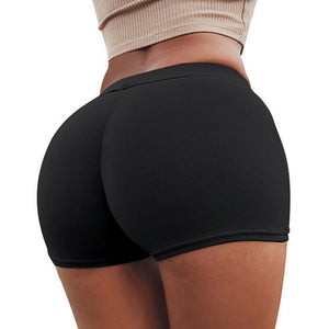 Lucylizz 2019 Compression Elastic Push Up Yoga Shorts Running Shorts Women Gym Short Slim Fit Shorts Fitness Workout Activewear