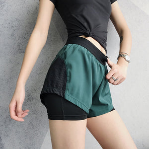 2019 Female Fitness Shorts Running Activewear For Women Yoga Workout Athletic Shorts Sports Wear Women Double Layer Gym Shorts