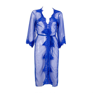 2019 Summer Women Sexy Lace Long Robes Dressing Gown Bath Babydoll Lingerie Nightdress