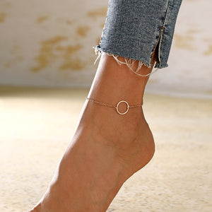 XIYANIKE Geometric Anklets Big Circle For Women Foot Accessories Summer Beach Barefoot Sandals Bracelet Ankle on the leg Female