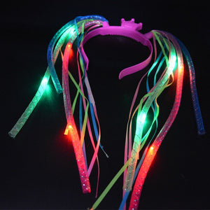 Women Girls Light Braids Flashing Crown Headband LED Blinking Hair Accessories Wedding Decoration Concert Bar Carnival Festival