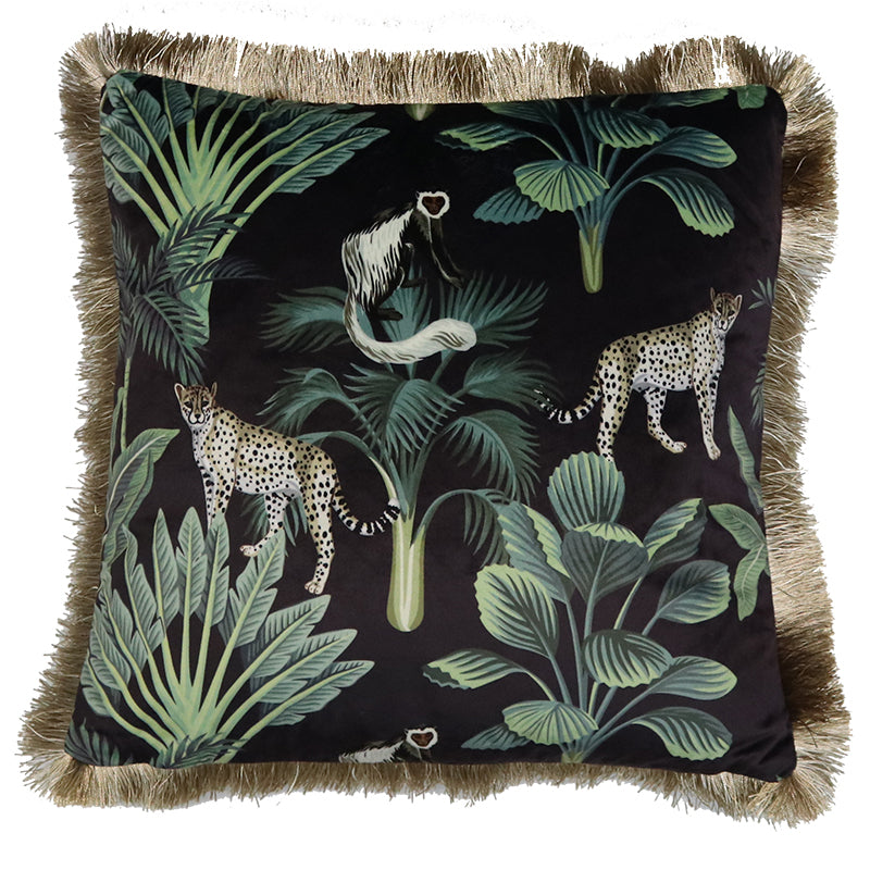Cushion I Velvet I Leopard & Monkey