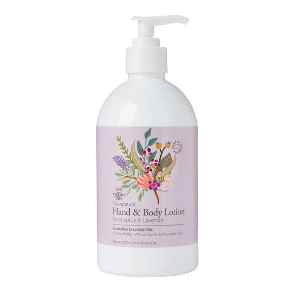 Therapeutic I Hand & Body Lotion I Eucalyptus & Lavender - Richie and Co