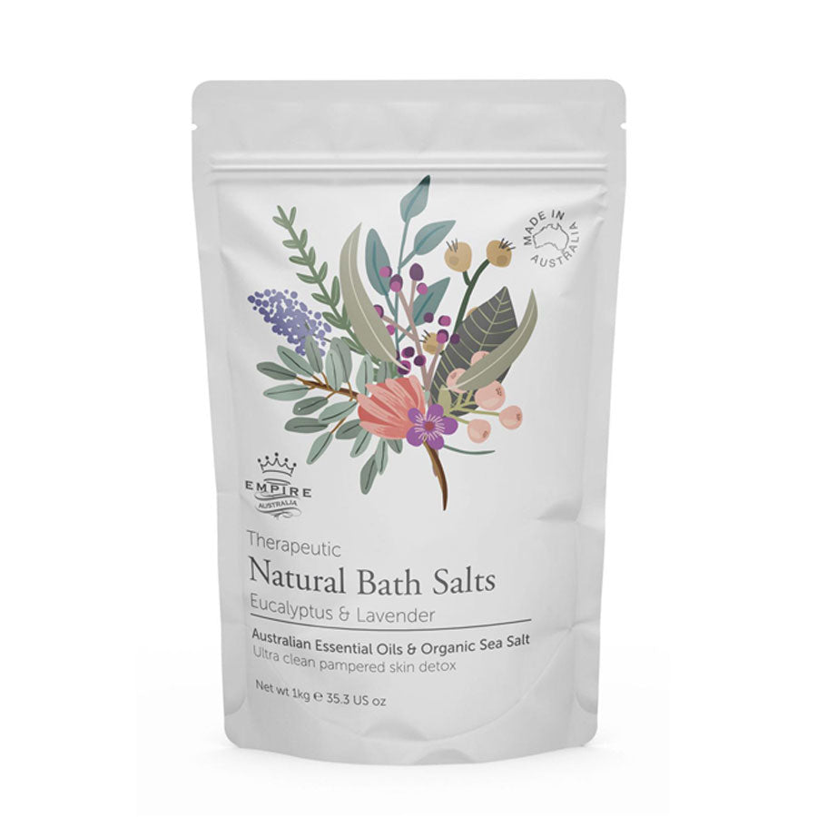 Therapeutic I Bath Salts I Eucalyptus & Lavender - Richie and Co