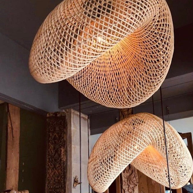 Woven Lamp Shade - Large - Richie and Co