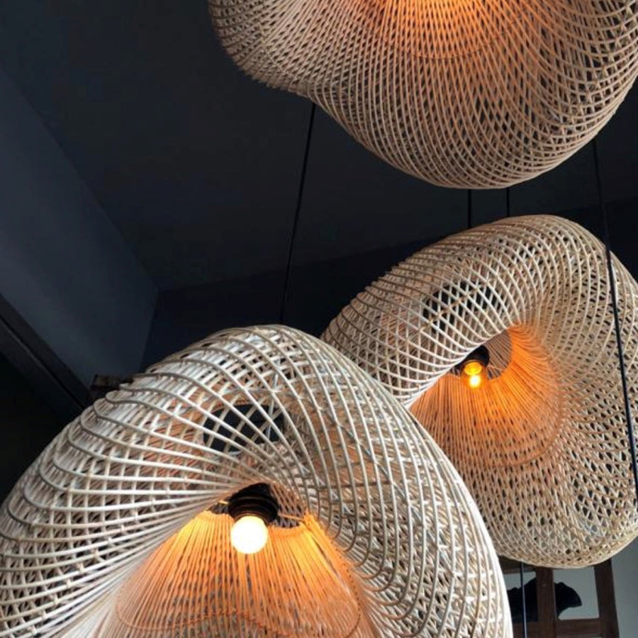 Woven Lamp Shade - Medium - Richie and Co