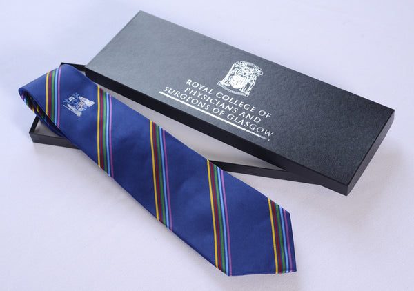 Royal College of Physicians and Surgeons Navy Silk Tie