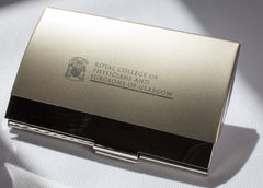 College Business Card Holder
