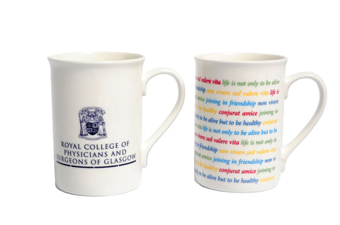 RCPSG Mug with College crest and logo