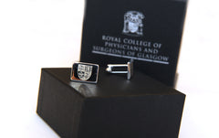 Cufflinks with Royal College of Physicians and Surgeons of Glasgow crest