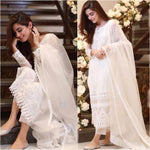 Beautiful White Color Georgette Base Party Wear Designer Salwar Suit - Wear Your Glamour