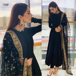 Stylish Designer Black embroidery Suit - Wear Your Glamour
