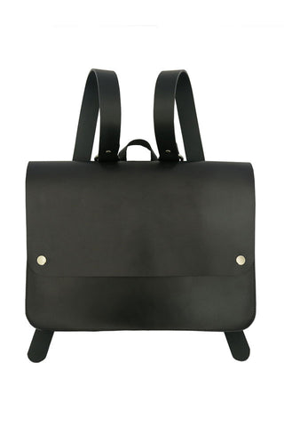 Black Kate Sheridan Leather Popper Rucksack