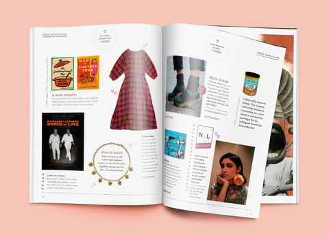 Oh Comely magazine Lowie Pink check dress
