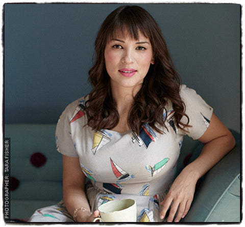 Rachel Khoo in Lowie sailboat dress