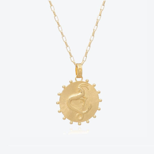 Rachel Jackson Capricorn Zodiac Art Coin Necklace